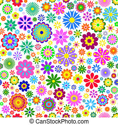 colorful flower on white background