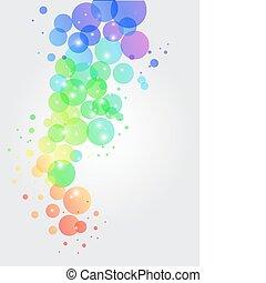illustration of colorful transparent dots