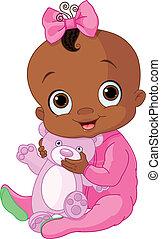 Cute baby girl with Teddy Bear