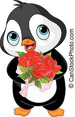 Cute Valentine day penguin