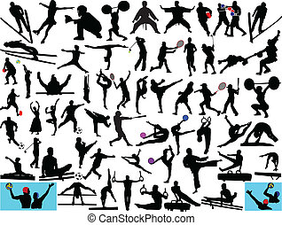 illustration of different sport collection - vector