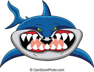 illustration of funny shark cartoon