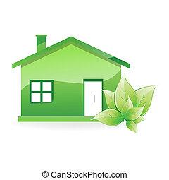 illustration of natural home