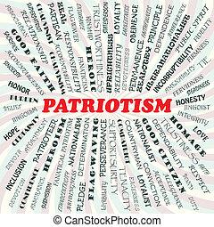 illustration of patriotism concept.