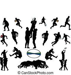 illustration of rugby collection - vector