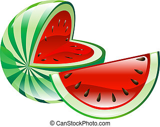 Illustration of watermelon fruit icon clipart