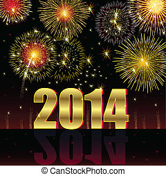 Illustration vector background, Happy New Year 2014