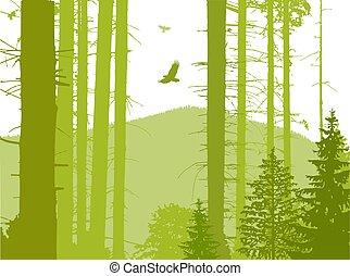 Image landscape. Eco banner