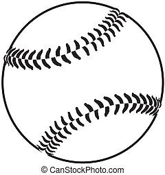 image of a baseball isolated in white background.