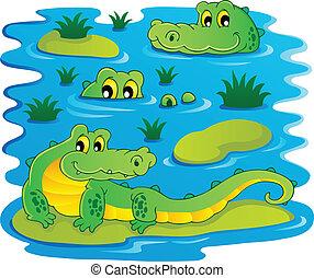 Image with crocodile theme 1