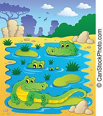Image with crocodile theme 2