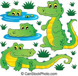 Image with crocodile theme 3