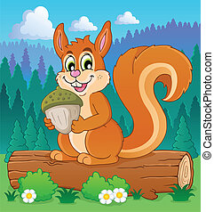 Image with squirrel theme 3