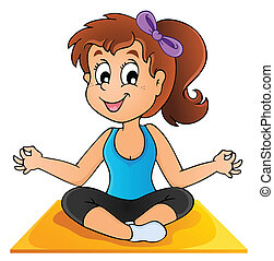 Image with yoga theme 1