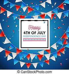 Independence Day Happy Fourth of July card