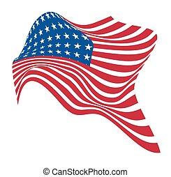 Abstract Wavy America Flag Vector Design