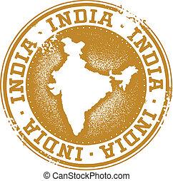 Vintage style distressed India stamp.