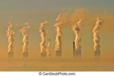 Air pollution from an electricity generation plant