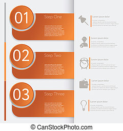 Infographic. Design number banners template graphic or website layout. With icon