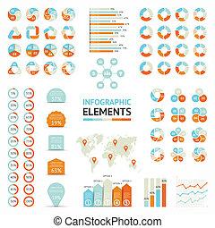Infographic elements, diagram, graph, arrows