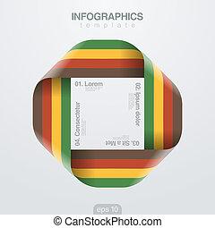 Infographics vector design template. Loop ribbon infinite.