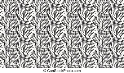 Inked strokes in hexagon shape on white