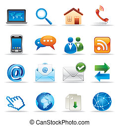new media and social network icons
