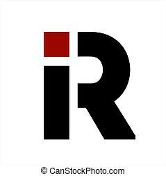 iR, Ri initials letter company logo
