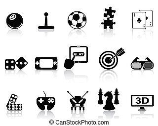 fun game icons set