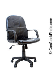 isolated black office chair
