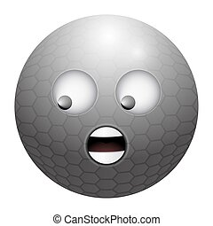Isolated emoji golf ball