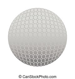 Isolated golf ball icon