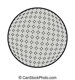 Isolated golf ball