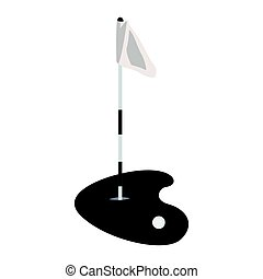 Isolated golf hole