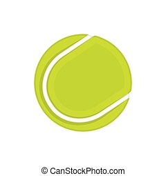 Isolated tennis ball on white background