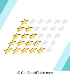Isometric rating stars set