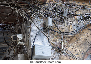Istanbul Tangled Wires Security Camera