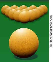 Ivory billiard ball.
