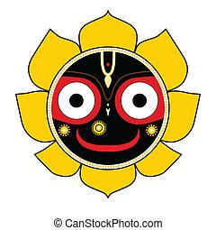 Jagannath. Indian God of the Universe.
