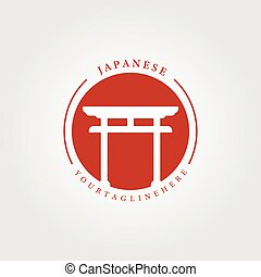 japanese icon, traditional culture logo vector illustration design