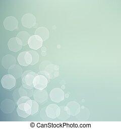 Jentle bokeh green blue background