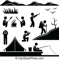 Jungle Trekking Hiking Camping Camp
