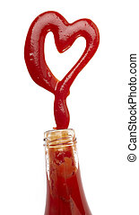 ketchup stain heart shape love food