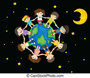 Kids around the Earth