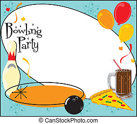 Kids Bowling Party Invitation