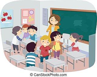 Kids Class Introduction Illustration