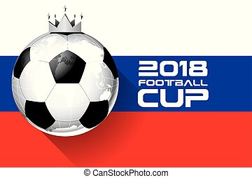 King Football 2018 world championship cup background soccer vector.