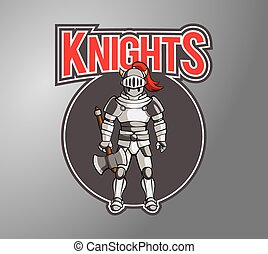 Knight Illustration design badge