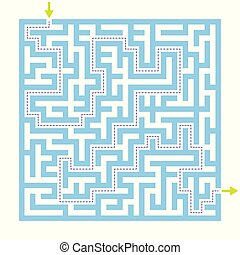 Labyrinth maze game with solution