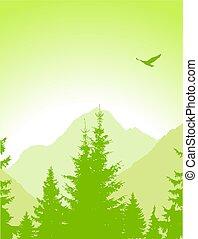 Landscape. Eco banner